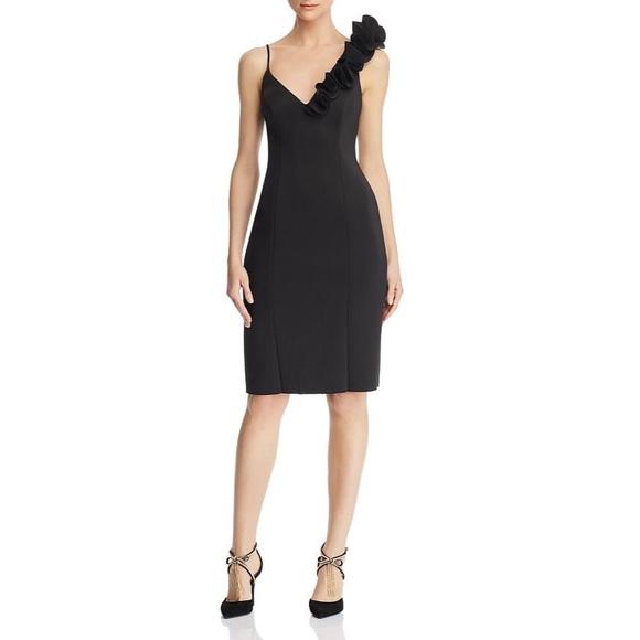 [Eliza J] asymmetric ruffle dress